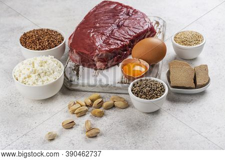 Food Rich Of Amino Acids. Products Containing Natural Amino Acids
