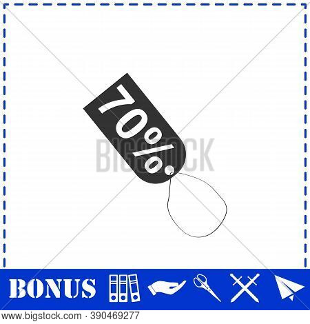 70 Percent Discount Icon Flat. Simple Vector Symbol And Bonus Icon