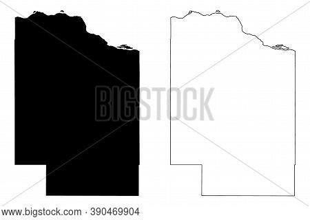 Cedar County, Nebraska (u.s. County, United States Of America, Usa, U.s., Us) Map Vector Illustratio