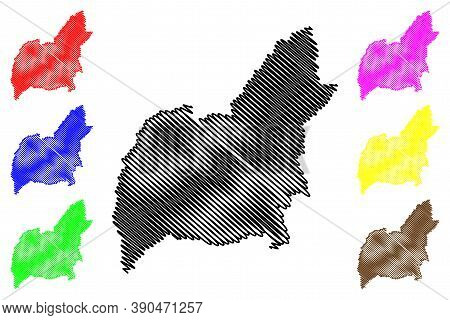Guarulhos City (federative Republic Of Brazil, Sao Paulo State) Map Vector Illustration, Scribble Sk