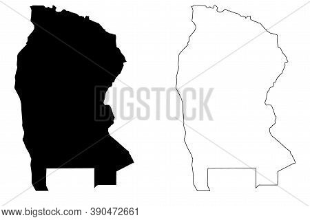 West Kordofan State (republic Of The Sudan, North Sudan) Map Vector Illustration, Scribble Sketch We