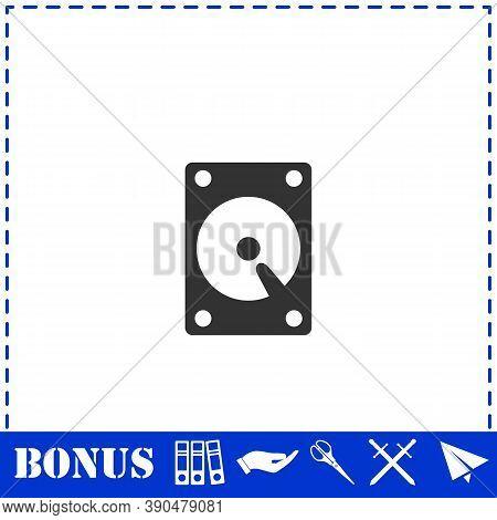 Hard Drive Icon Flat. Simple Vector Symbol And Bonus Icon