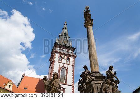 Sightseeing Tower Of The Late Gothic Decanal Church Of The Assumption Of The Virgin Mary In Chomutov