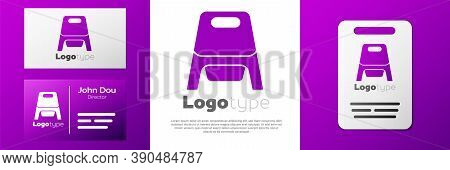 Logotype Baby Potty Icon Isolated On White Background. Chamber Pot. Logo Design Template Element. Ve