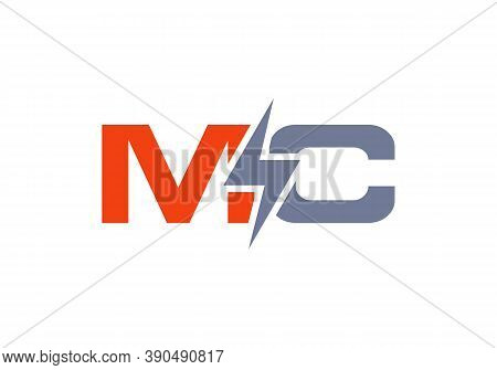 Letter Mc Electric Industrial Power Logo Vector