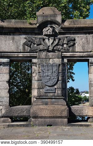 Koblenz, Rhine Valley, Germany - 11 Sep 2015: Koblenz On Rhine River And Moselle River, Germany