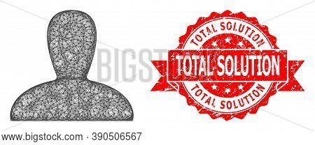 Network Spawn Persona Icon, And Total Solution Rubber Ribbon Seal. Red Stamp Seal Includes Total Sol