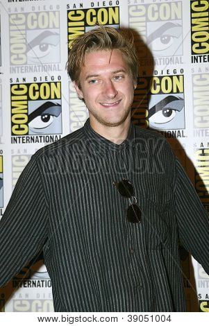 SAN DIEGO, CA - JULY 15: Arthur Darvill arrives at the 2012 Comic Con convention press room at the Bayfront Hilton Hotel on Sunday, July 15, 2012 in San Diego, CA.