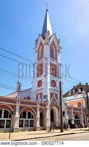Samara, Russia - June 12, 2019: Lutheran Church Of St. George. Roman Catholic Church