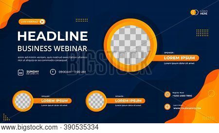 Vector Graphic Of Black And Red Geometric Background With Hexagon Frame. Suitable For Web Banner, Bu