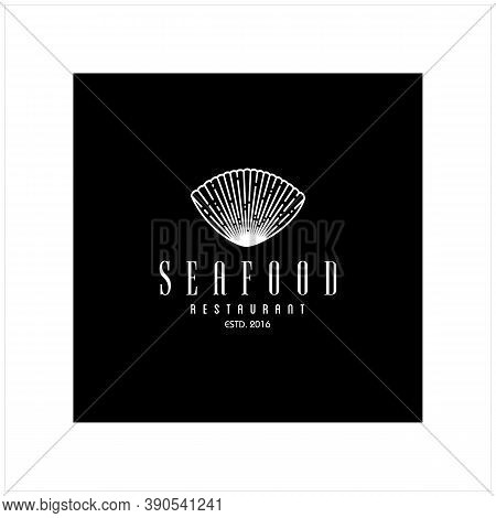 Beauty Vintage Seafood Seashell Pearl Oyster Shell Scallop Bivalve Cockle Mussel Clam Simple Silhoue