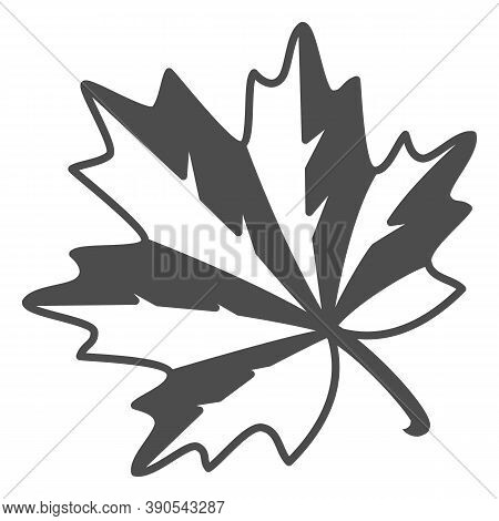 Maple Leaf Thin Line Icon, Oktoberfest Concept, Autumn Symbol Sign On White Background, Maple Leaf I