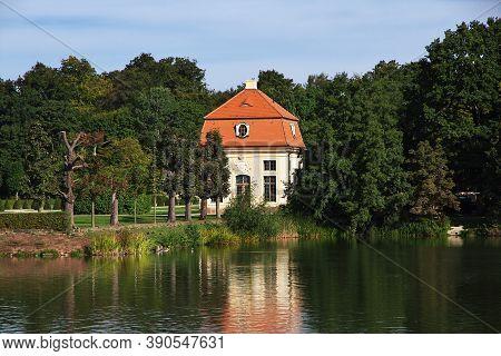 Moritzburg, Saxony, Germany - 08 Sep 2015: The Small House In Moritzburg Schloss In Germany, Saxony