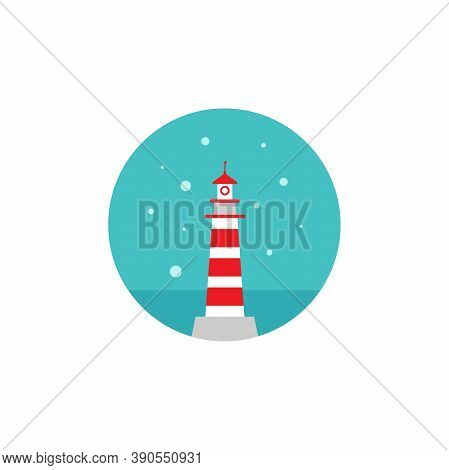 Lighthouse, Light House, Beacon. Nautical, Maritime, Marine, Naval Symbol.