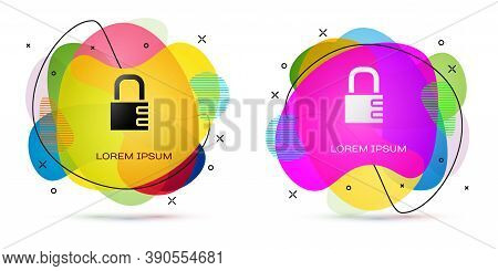 Color Safe Combination Lock Icon Isolated On White Background. Combination Padlock. Security, Safety