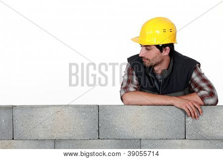 Mason supported wall