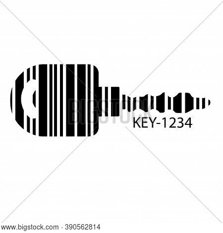 Barcode Set The Shape To The Key, Concept Of Successful In Business.