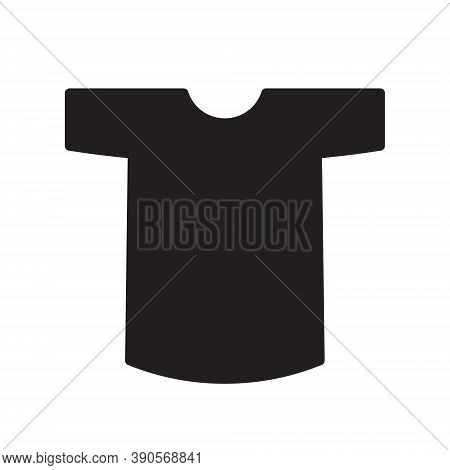 T-shirt Vector Icon. Tee Shirt Symbol. Clothing Logo Sign. Web Store Button. Silhouette Isolated On