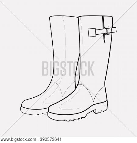 Wellington Boots Icon Line Element. Vector Illustration Of Wellington Boots Icon Line Isolated On Cl