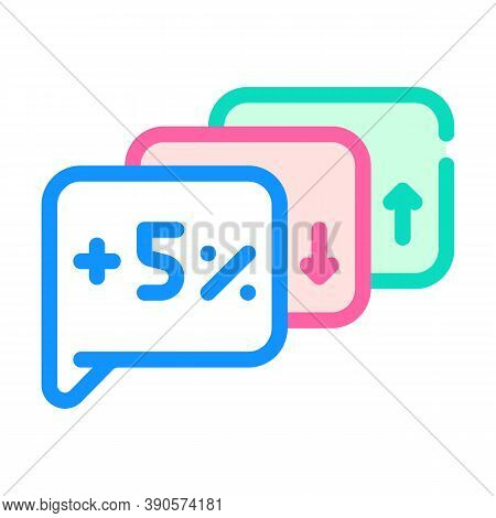 Exit Polls Growing And Falling Color Icon Vector Illustration