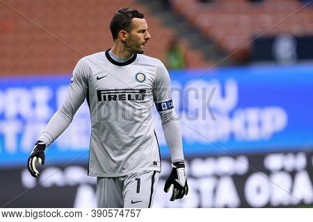 Milano (italy), 17th October 2020. Samir Handanovic Of Fc Internazionale During The Serie A Match Be