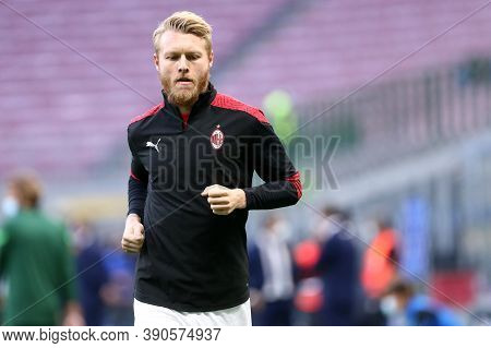 Milano (italy), 17th October 2020. Simon Kjaer Of Ac Milan   During The  Serie A Match  Between Fc I