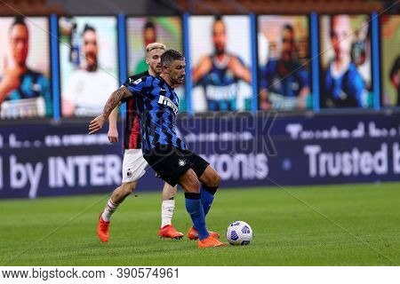 Milano (italy), 17th October 2020. Yann Karamoh Of Fc Internazionale During The Serie A Match Betwee