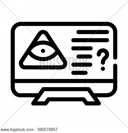 Worldwide Conspiracy Of Secret Organizations Line Icon Vector Illustration