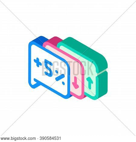 Exit Polls Growing And Falling Isometric Icon Vector Illustration