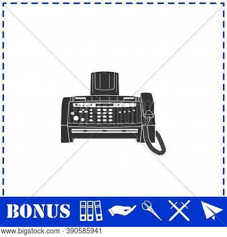 Fax Machine Icon Flat. Simple Vector Symbol And Bonus Icon