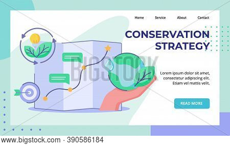 Conservation Strategy Hand Hold Earth Planning Target Map Journey Leaf Bulb Lamp Campaign For Web We