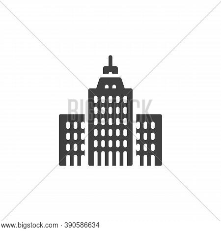 Government House Vector Icon. Filled Flat Sign For Mobile Concept And Web Design. Government Buildin