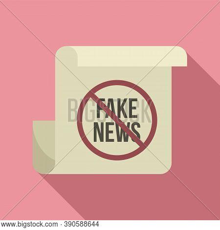 Fake News Icon. Flat Illustration Of Fake News Vector Icon For Web Design