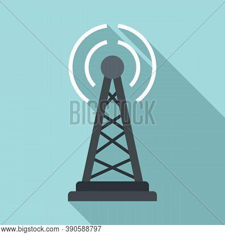 Tower Tv Fake News Icon. Flat Illustration Of Tower Tv Fake News Vector Icon For Web Design