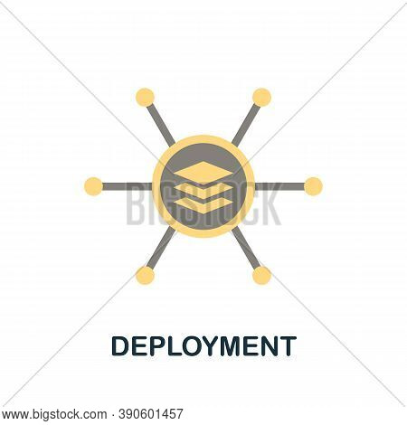 Deployment Icon. Simple Element From Business Growth Collection. Creative Deployment Icon For Web De