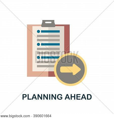 Planning Ahead Icon. Simple Element From Business Growth Collection. Creative Planning Ahead Icon Fo