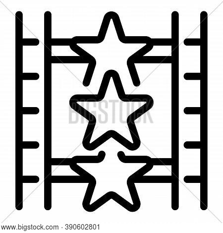 Movie Stars Icon. Outline Movie Stars Vector Icon For Web Design Isolated On White Background