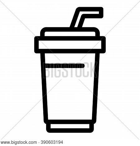Soda Cinema Icon. Outline Soda Cinema Vector Icon For Web Design Isolated On White Background