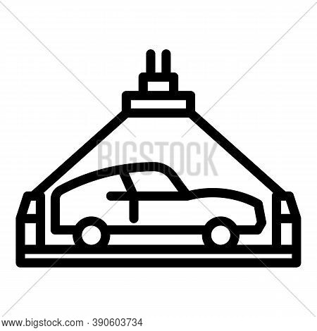 Vehicle Lift Icon. Outline Vehicle Lift Vector Icon For Web Design Isolated On White Background