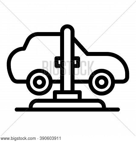 Car Lift Service Icon. Outline Car Lift Service Vector Icon For Web Design Isolated On White Backgro