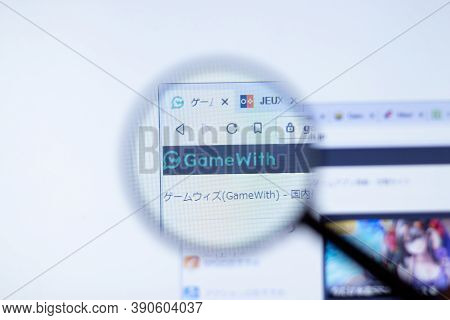 New York, Usa - 29 September 2020: Gamewith.jp Gamewith Company Website With Logo Close Up, Illustra