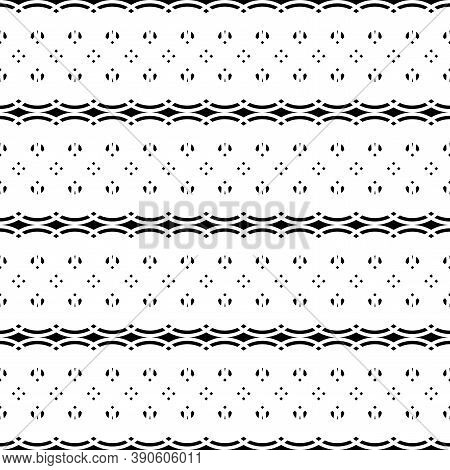 Design Seamless Stripy Pattern. Abstract Monochrome Grating Background. Vector Art