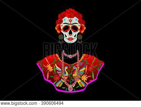 Day Of The Dead, Catrina Is A Character Of The Mexican Popular Culture That Represent The Death And