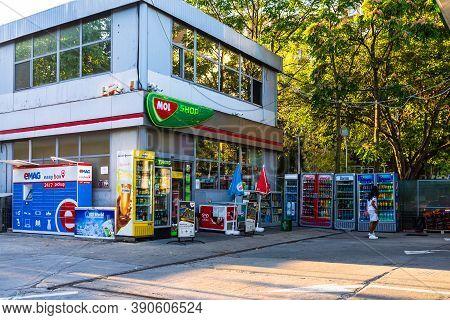 Mol Gas Station In Bucharest, Romania, 2020.
