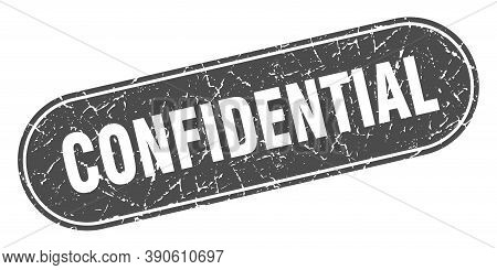 Confidential Sign. Confidential Grunge Black Stamp. Label