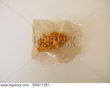 Dried Turmeric, Curcuma Root In Wax Paper
