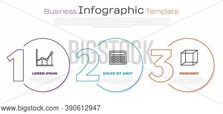 Set Line Sigma Symbol, Chalkboard And Function Mathematical Symbol. Business Infographic Template. V
