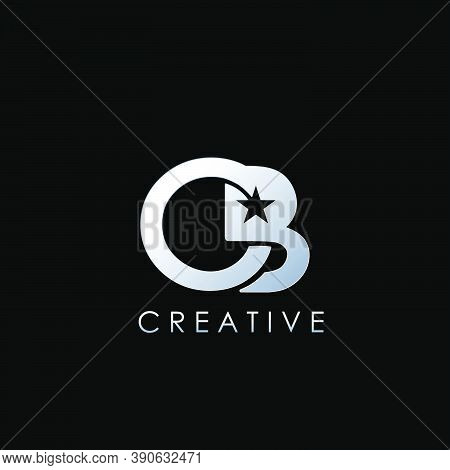 Gb, Cb Logo Letter. Vector Graphic Branding Initial Letter G, B, C With Star Element Template Design