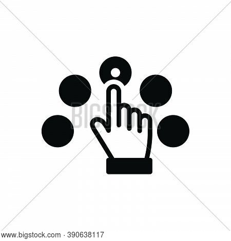 Black Solid Icon For Per-click-pay Per Click Pay Marketing Touch Browser Gesture