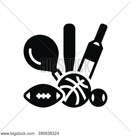 Black Solid Icon For Sport Game Play Competitive Athletics Pastime Entertainment Delight